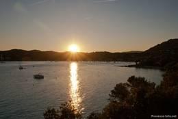 Sonnenuntergang über der Bucht von Agay