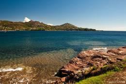 Blick von Westen über die Bucht von Agay