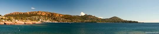 Blick über die Bucht von Agay