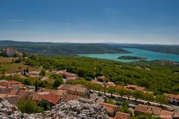 Aussicht von Aiguines auf den Lac de Sainte-Croix