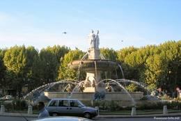 Brunnen am Place de la Rotonde in Aix-en-Provence