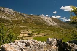 Aussicht von Bargème in die umliegende Landschaft