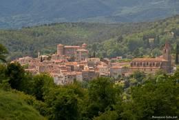 Das Dorf Callian in den bewaldeten Hügeln des Pays de Fayence