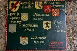 Tafel am Schloss von Callian