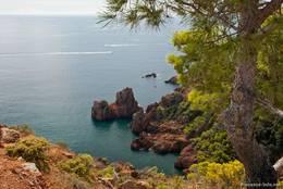 Die zerklüftete Küste am Cap Dramont hat viele kleine Buchten und viele schöne Ausblicke