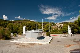 Denkmal zur Landung der US-Truppen im Jahr 1944 an der Küste beim Cap Dramont