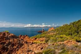 Blick vom Cap Dramont zur Île d'Or