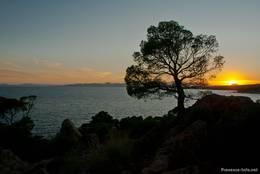 Stimmungsvoller Sonnenuntergang am Cap Dramont