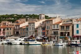 Häuser am Hafen von Cassis