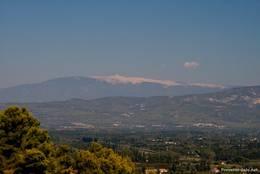 Aussicht von Cavaillon auf den Mont Ventoux
