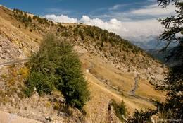 Die Straße aus dem Tal der Ubaye schlängelt sich langsam hinauf zum Col d'Allos