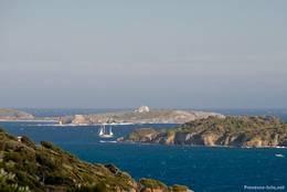 Ausblick von der Halbinsel Giens auf Teile der Hyèrischen Inseln