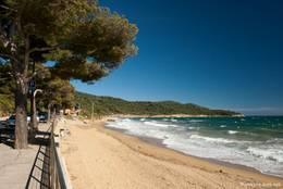 Der Strand von Gigaro einem Ortsteil von La Croix-Valmer (Plage de Gigaro)