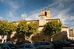 Die besonders im Innenraum sehenswerte Kirche Notre-Dame de Romegas im Zentrum von La Tour-d'Aigues