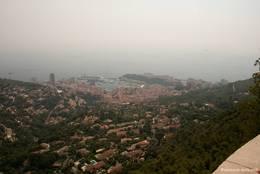 Ausblick von La Turbie auf Monaco, das Wetter war leider nicht so gut