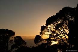 Sonnenuntergang am Mittelmeer bei Le Dramont