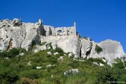 Die Burgruine von Les Baux-de-Provence