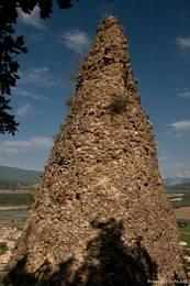 Eine Felsnadel der Felsformation Les Pénitents