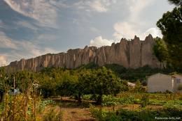 Les Pénitents (Die Büßer), eine bizarre Felsformation in Les Mées