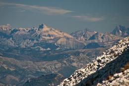 Blick vom Mont Ventoux auf einige Alpengipfel