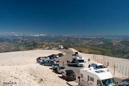 Parkplätze am Gipfel des Mont Ventoux