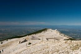 Der westliche Teil den Mont Ventoux Gipfels