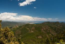 Blick vom Gipfel Richtung Cannes