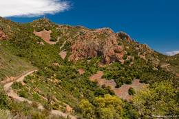 Der Mont Vinaigre mit den für das Esterel-Gebirge typischen rötlichen Felsen