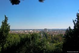 Ausblick über die Stadt Nîmes