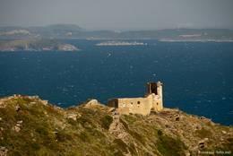 Ausblick von der Kapelle Notre-Dame du Mai und dem Cap Sicié zu den Hyèrischen Inseln