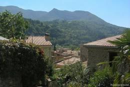 Hügelige Landschaft im Département Drôme