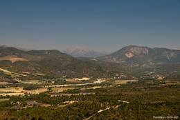 Ausblick vom Plateau de Valensole in das Tal der Asse