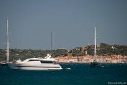 Ausblick von Port Grimaud Richtung Saint-Tropez
