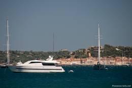 Ausblick von Port Grimaud Richtung Saint-Tropez