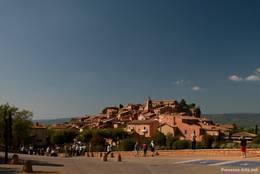 Ausblick auf das Dorf Roussillon