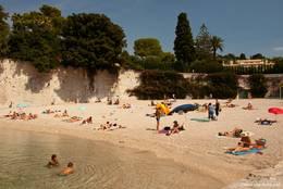 Kleiner Badestrand 'Plage de Passable' in Saint-Jean-Cap-Ferrat
