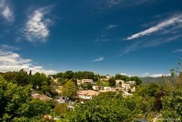 Blick über einen Teil von Saint-Paul-en-Forêt