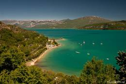 Wunderschöner Ausblick über den Lac de Sainte-Croix