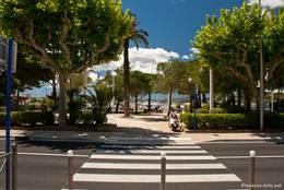 Blick vom Zentrum zum Hafen von Sainte-Maxime