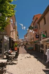 Teil der Fußgängerzone in der Altstadt von Sainte-Maxime