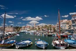 Ein Teil des Hafens von Sanary-sur-Mer