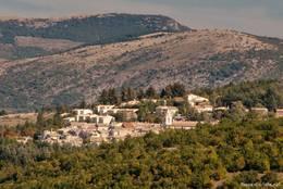 Ausblick auf das Dorf Sault