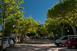 Der Boule-Platz von Seillans