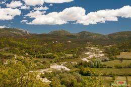 Blick von Trigance in das Tal des Jabron