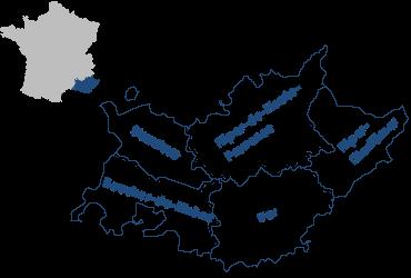 Die Départements der Provence und Côte d'Azur mit ihrer Lage in Frankreich